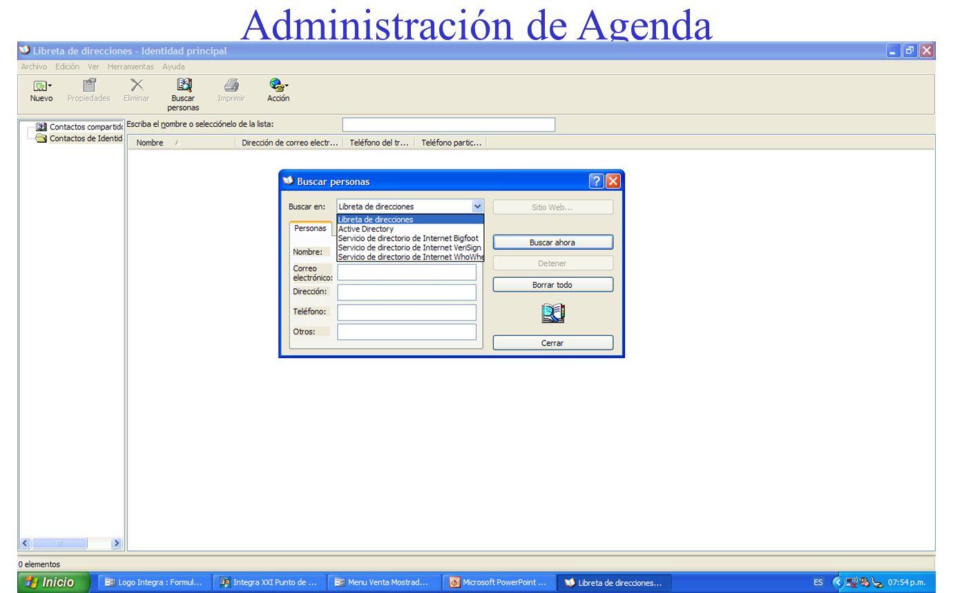 Administración de Agenda