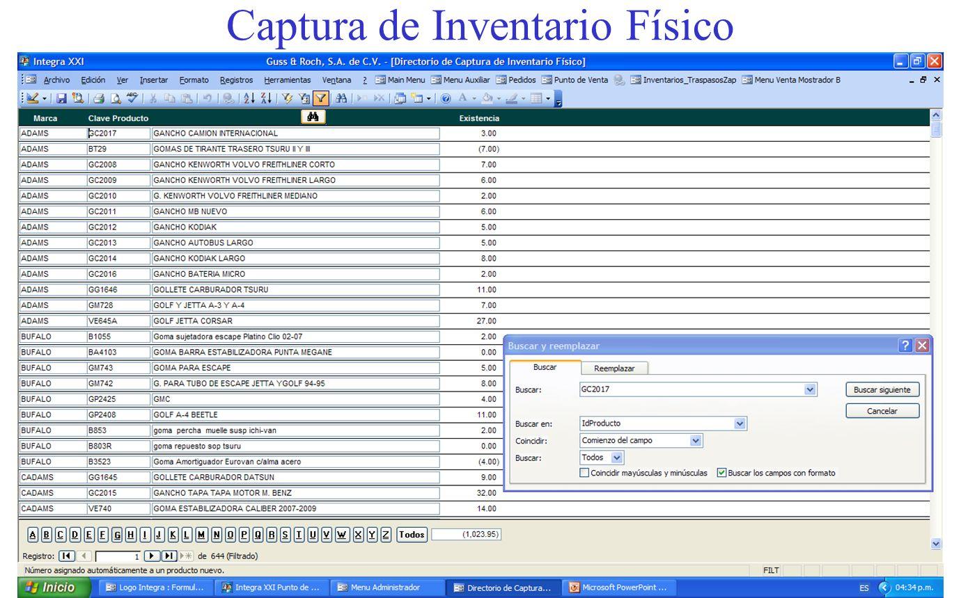 Captura de Inventario Físico