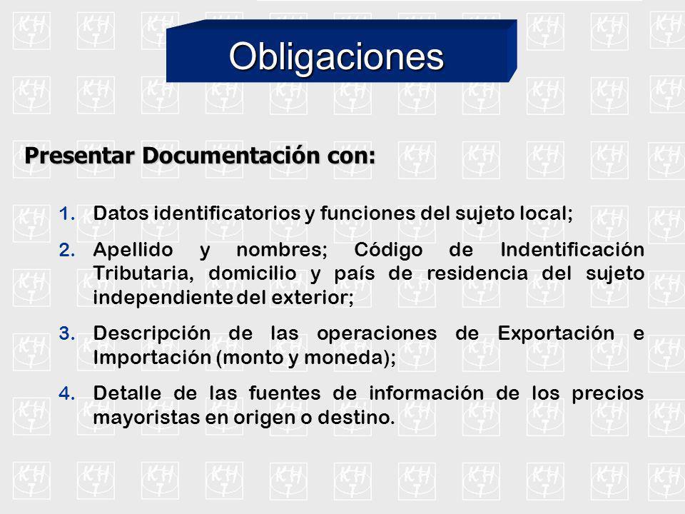 Operaciones de Importación y Exportación entre sujetos no relacionados