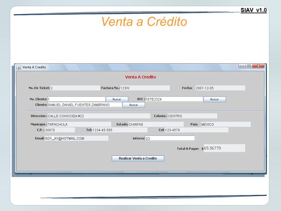 Venta a Crédito