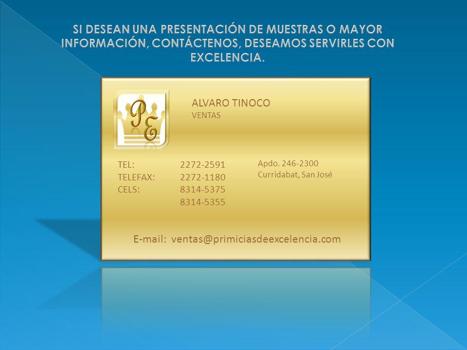 E-mail: ventas@primiciasdeexcelencia.com