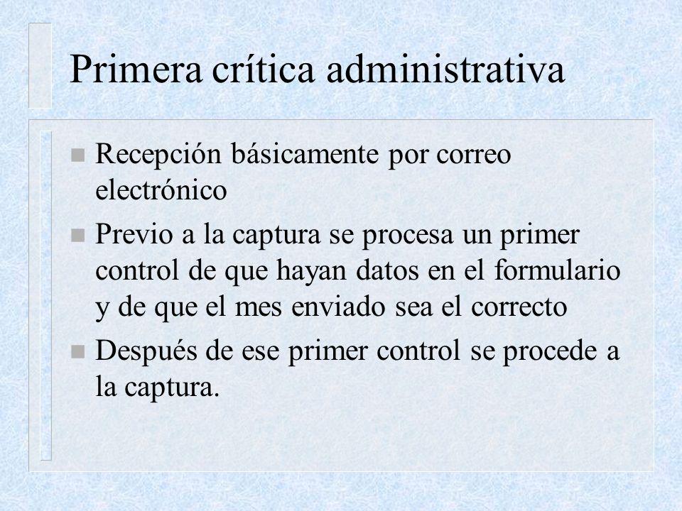 Primera crítica administrativa