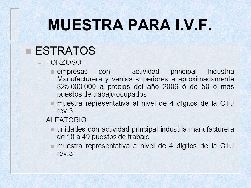 MUESTRA PARA I.V.F. ESTRATOS FORZOSO