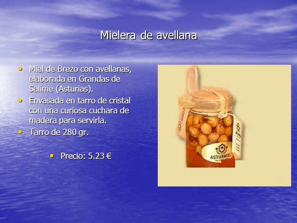 Mielera de avellana Miel de Brezo con avellanas, elaborada en Grandas de Salime (Asturias).