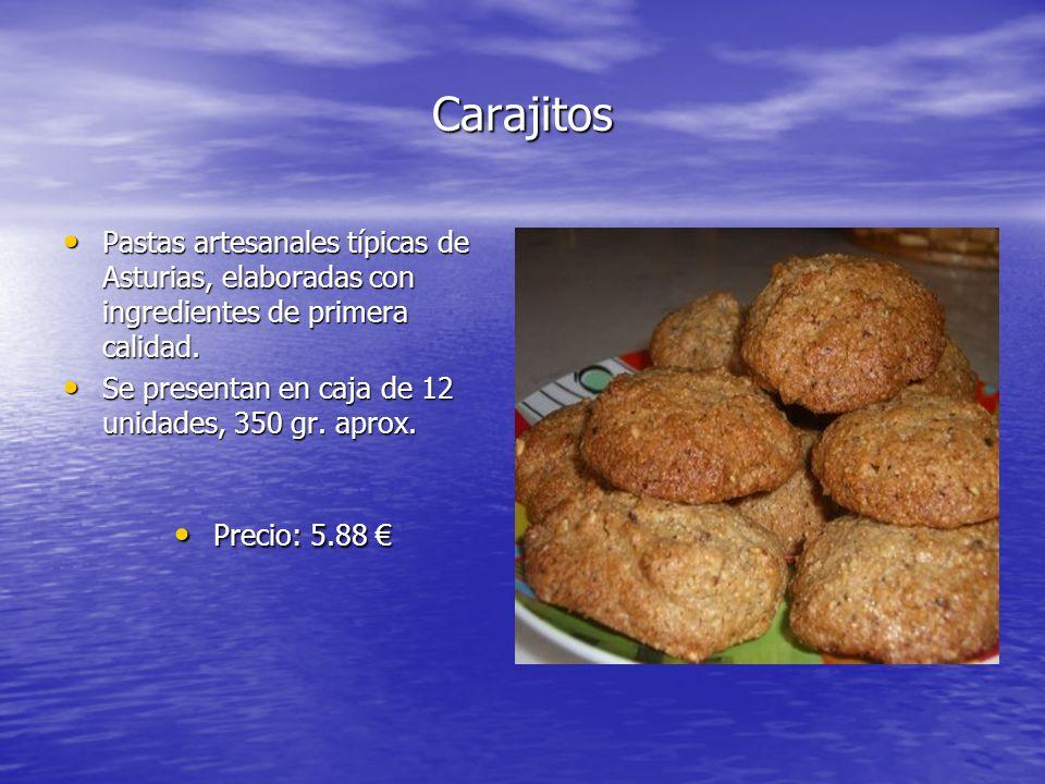 Carajitos Pastas artesanales típicas de Asturias, elaboradas con ingredientes de primera calidad.