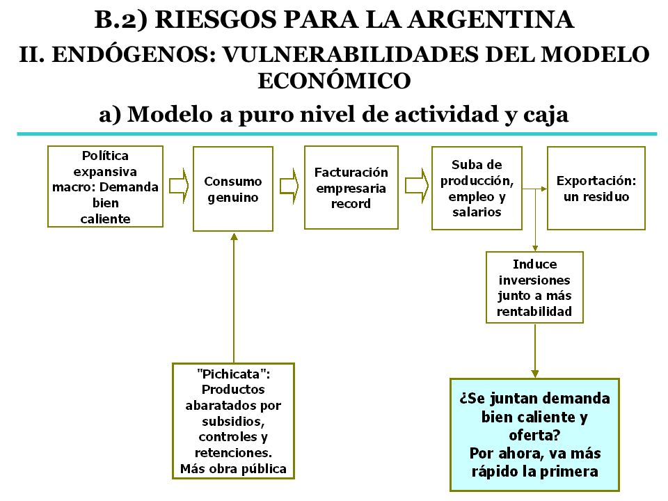 B.2) RIESGOS PARA LA ARGENTINA