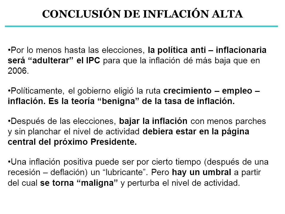 CONCLUSIÓN DE INFLACIÓN ALTA