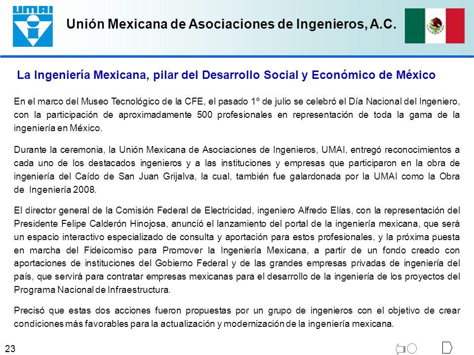 La Ingeniería Mexicana, pilar del Desarrollo Social y Económico de México