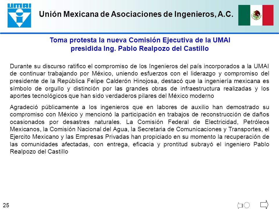 Toma protesta la nueva Comisión Ejecutiva de la UMAI presidida Ing