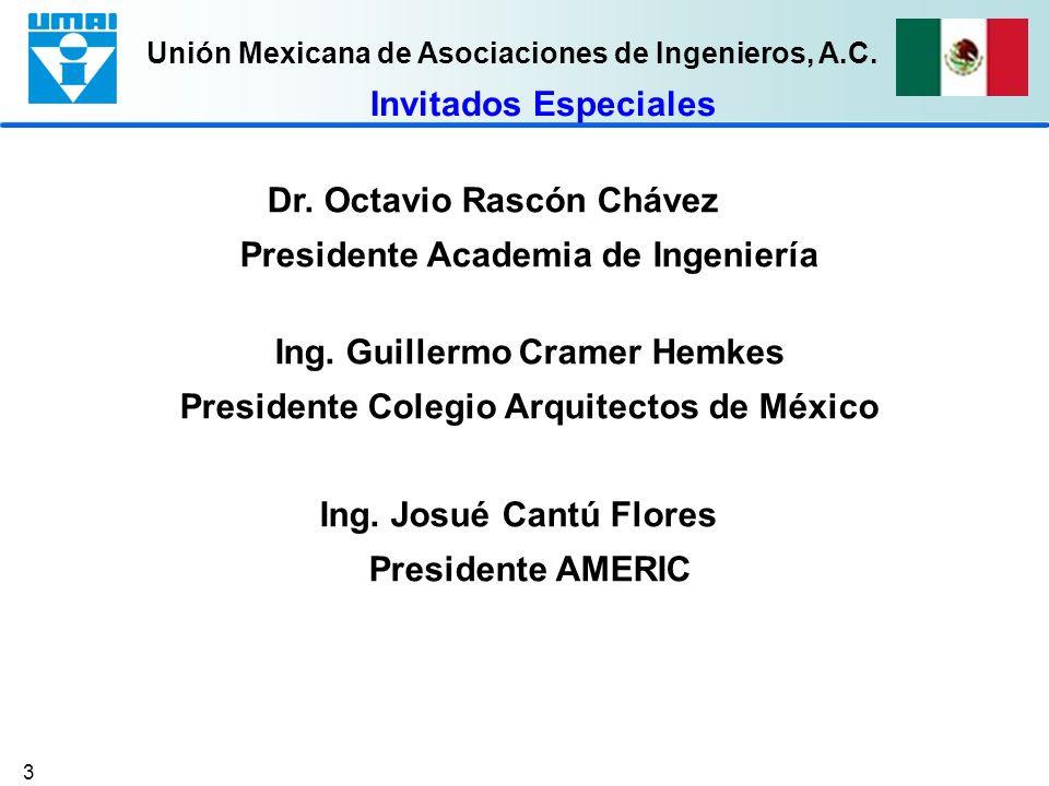 Dr. Octavio Rascón Chávez Presidente Academia de Ingeniería