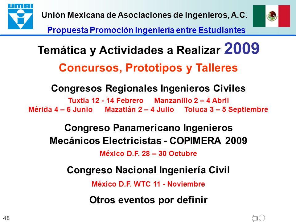 Temática y Actividades a Realizar 2009