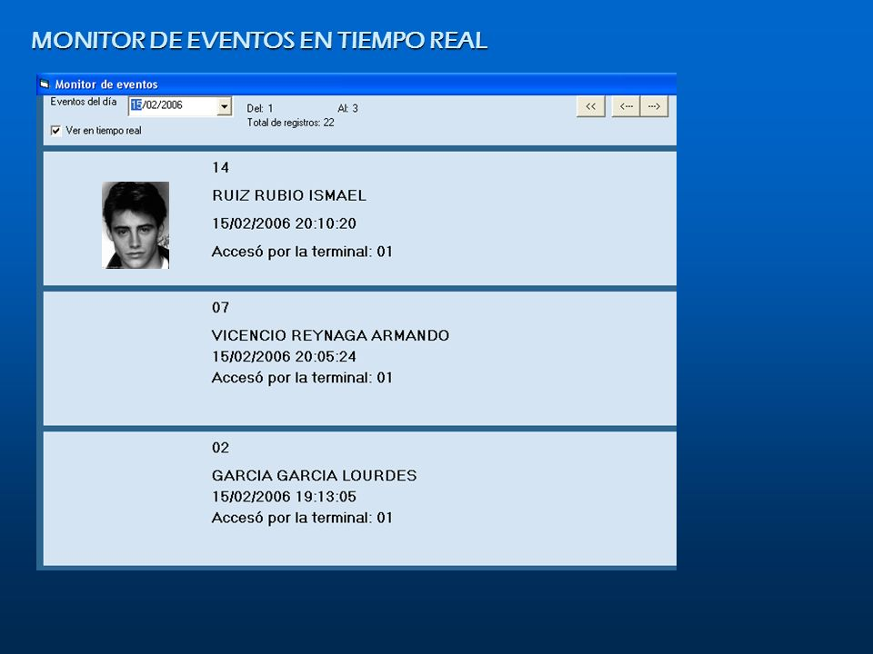 MONITOR DE EVENTOS EN TIEMPO REAL