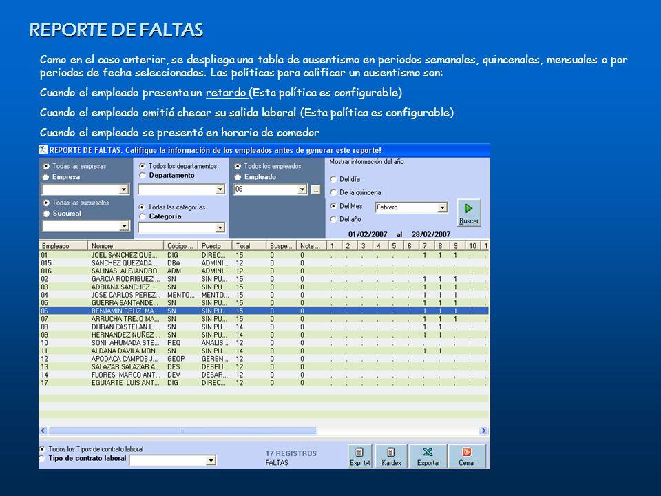 REPORTE DE FALTAS February 07