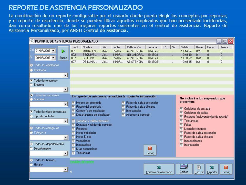 REPORTE DE ASISTENCIA PERSONALIZADO
