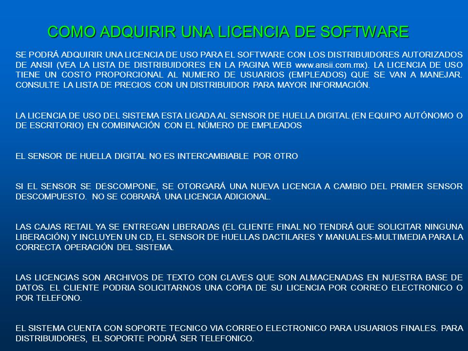 COMO ADQUIRIR UNA LICENCIA DE SOFTWARE