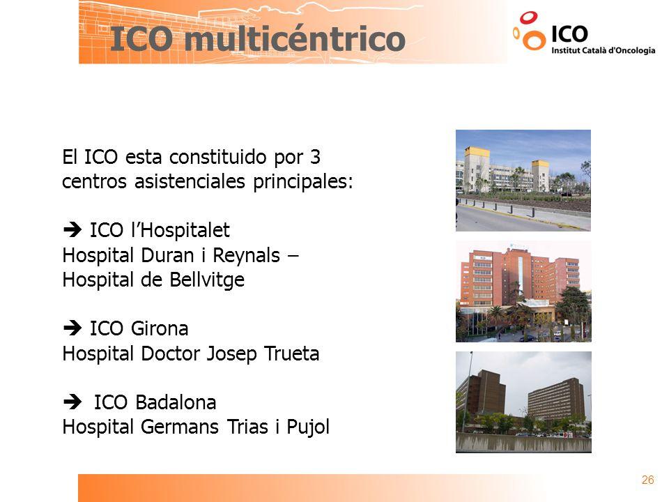 ICO multicéntrico El ICO esta constituido por 3