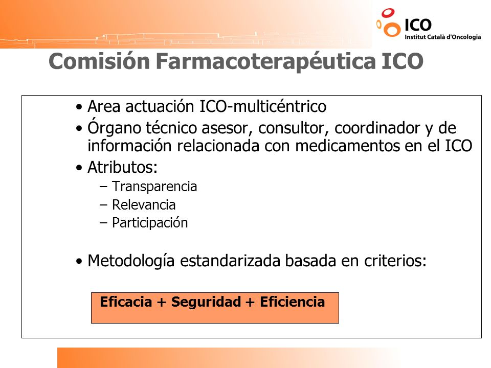 Comisión Farmacoterapéutica ICO