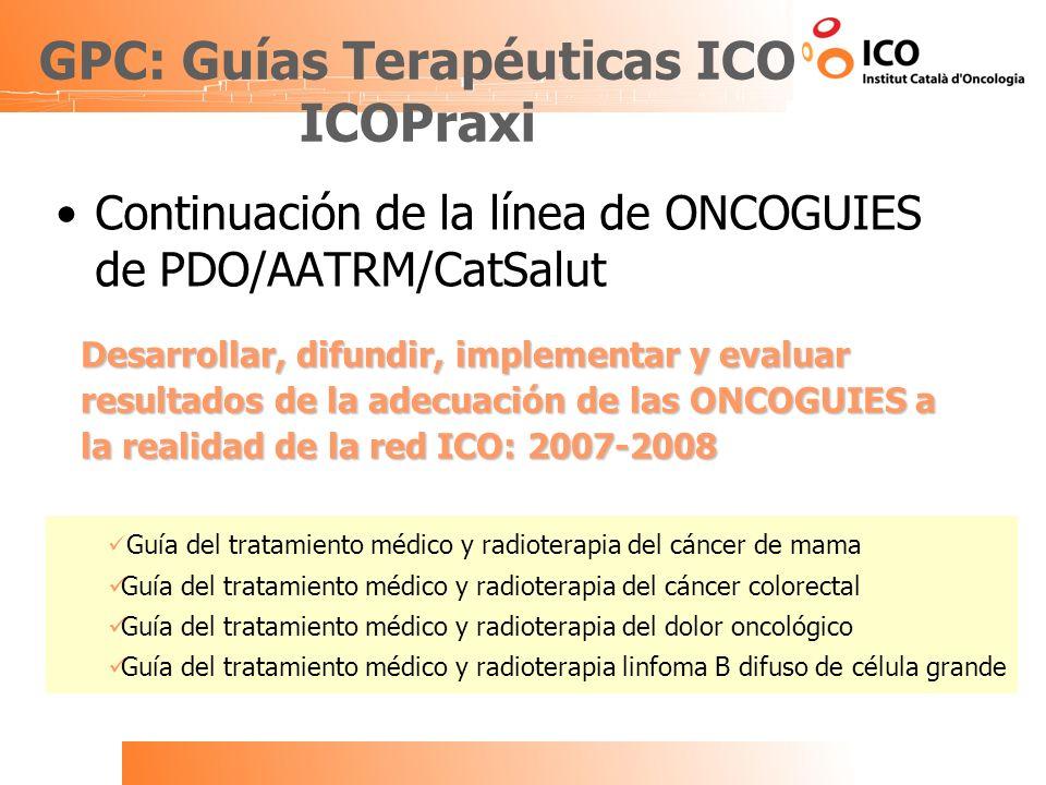 GPC: Guías Terapéuticas ICO ICOPraxi