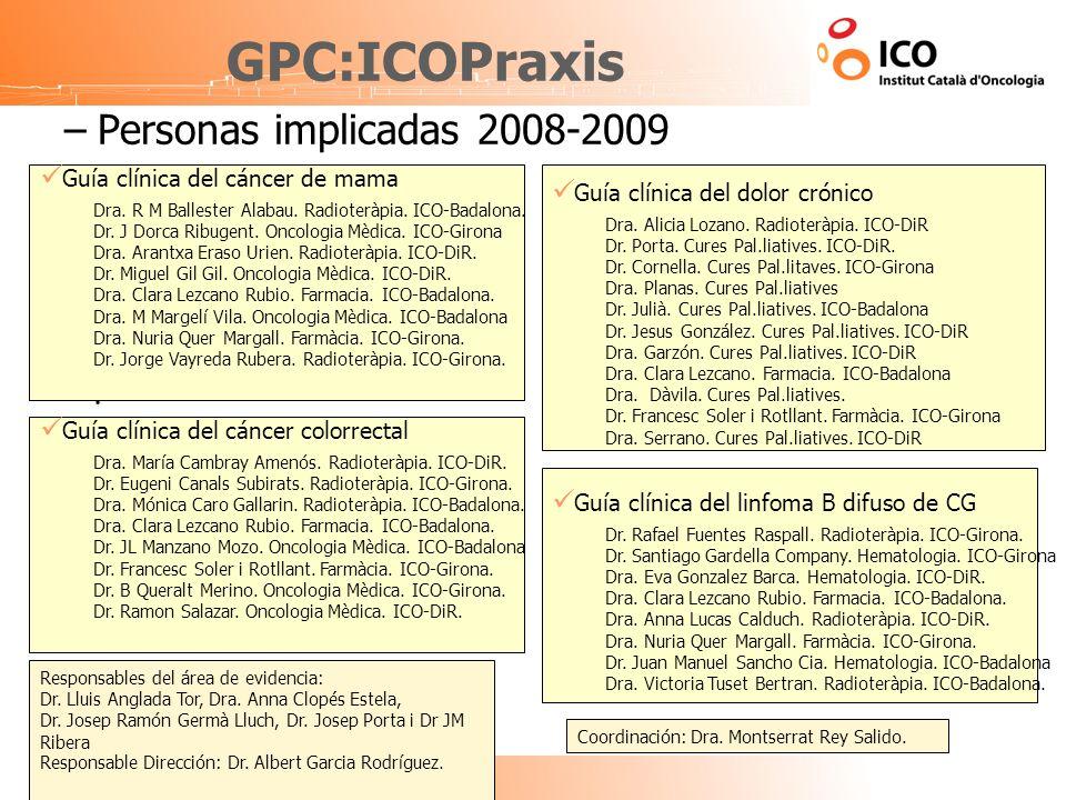 GPC:ICOPraxis Personas implicadas 2008-2009 .