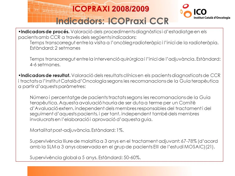 Indicadors: ICOPraxi CCR