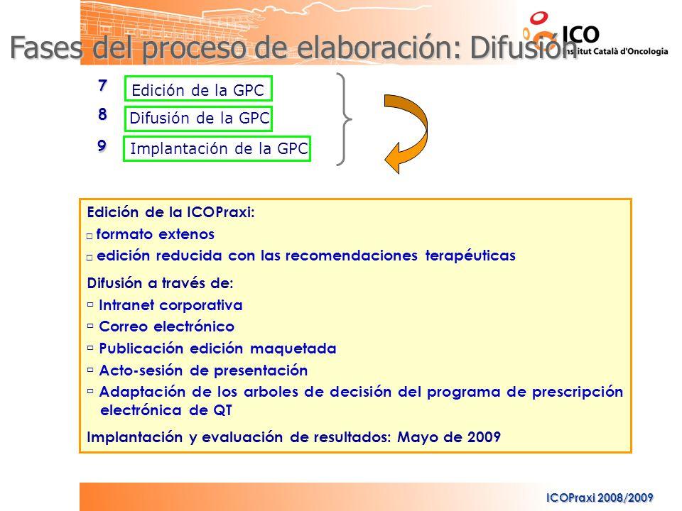 Fases del proceso de elaboración: Difusión