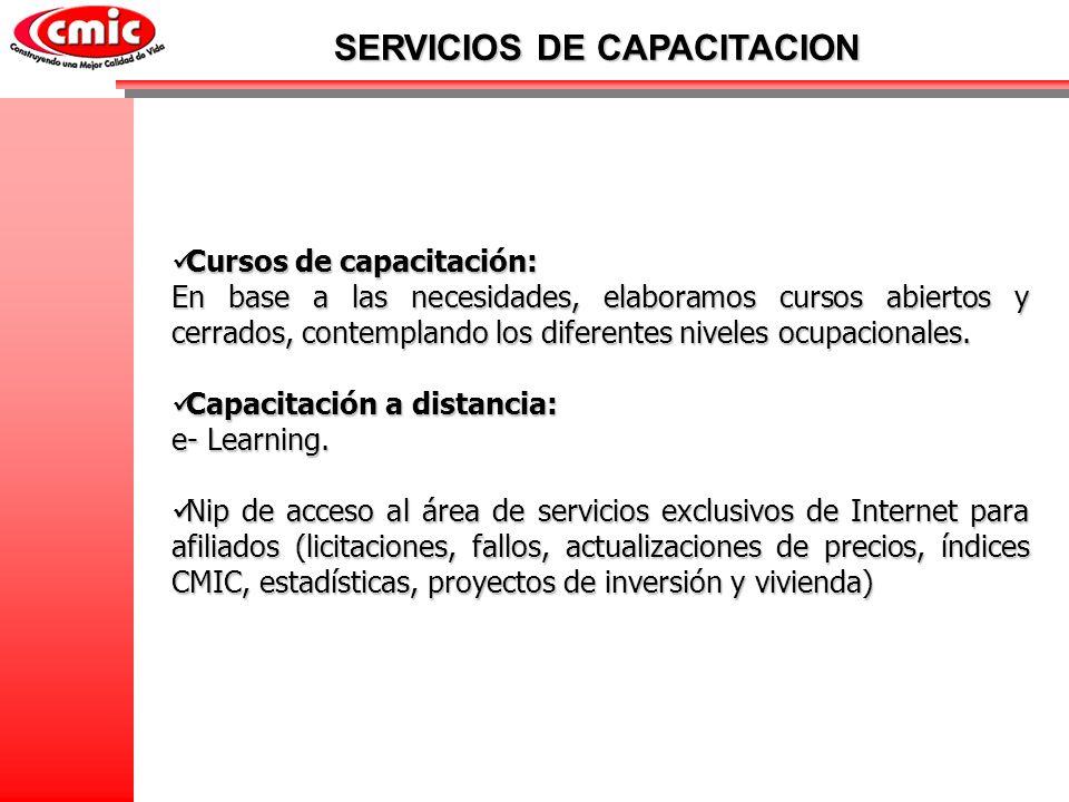 SERVICIOS DE CAPACITACION