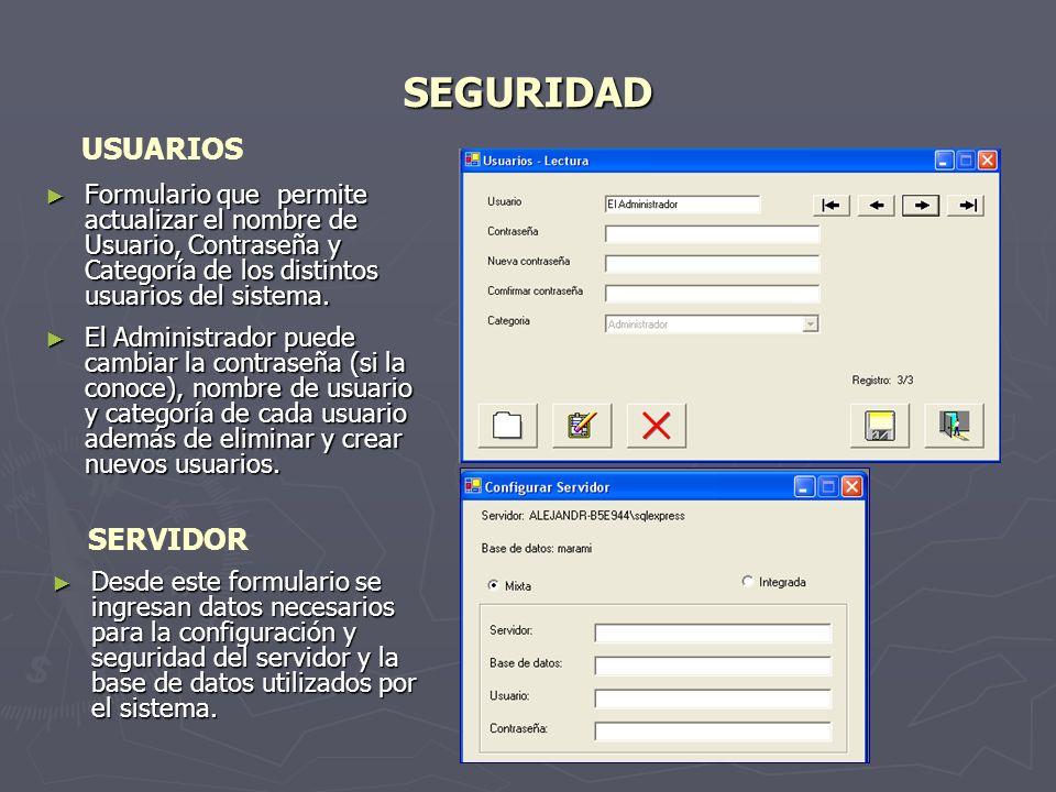 SEGURIDAD USUARIOS SERVIDOR