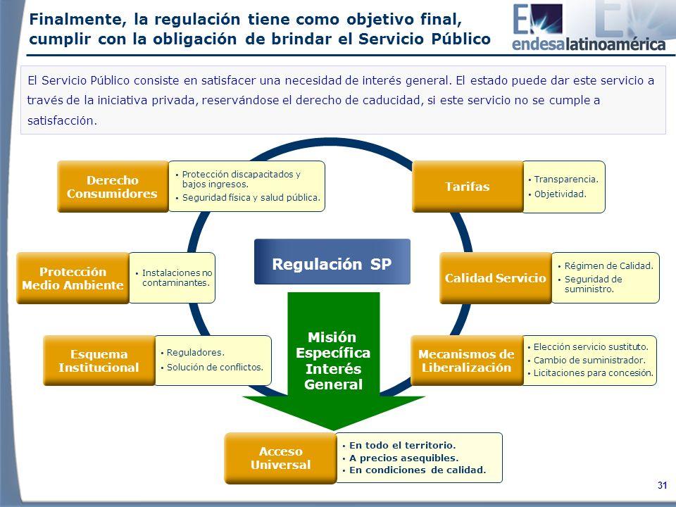 Finalmente, la regulación tiene como objetivo final, cumplir con la obligación de brindar el Servicio Público