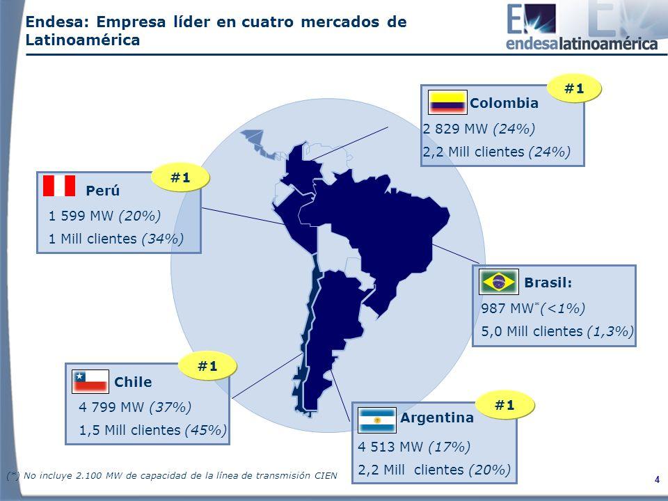 Endesa: Empresa líder en cuatro mercados de Latinoamérica