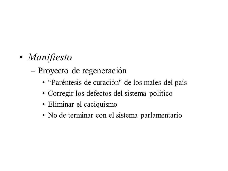 Manifiesto Proyecto de regeneración