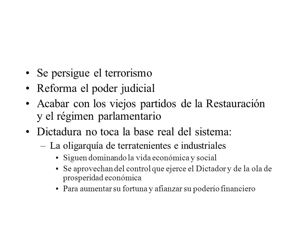 Se persigue el terrorismo Reforma el poder judicial