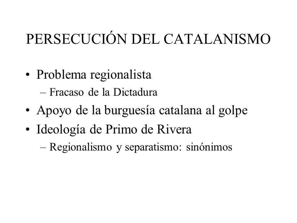 PERSECUCIÓN DEL CATALANISMO