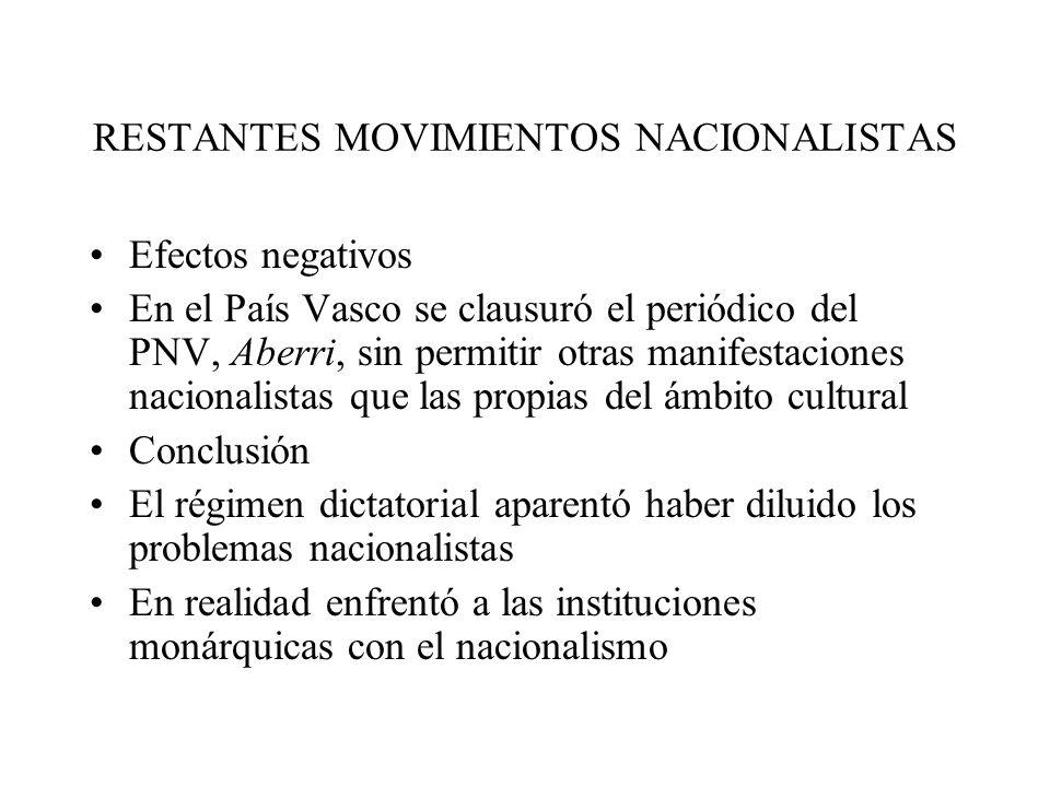 RESTANTES MOVIMIENTOS NACIONALISTAS