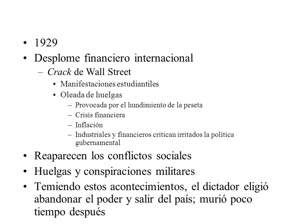Desplome financiero internacional
