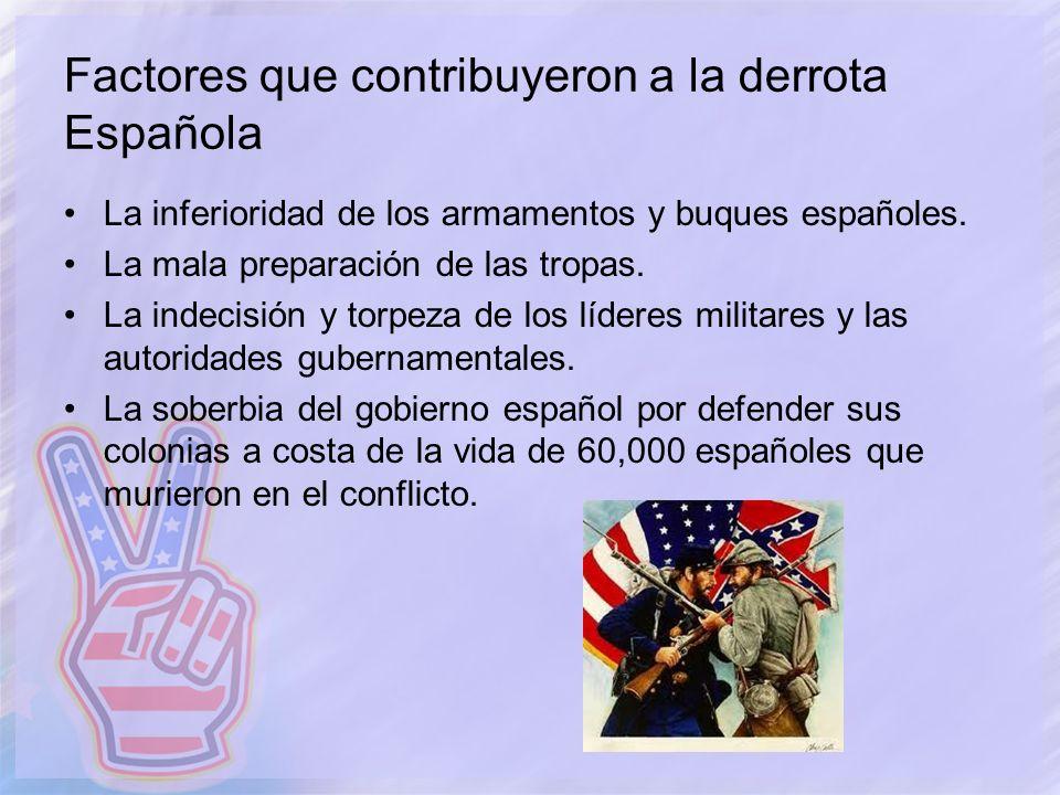 Factores que contribuyeron a la derrota Española