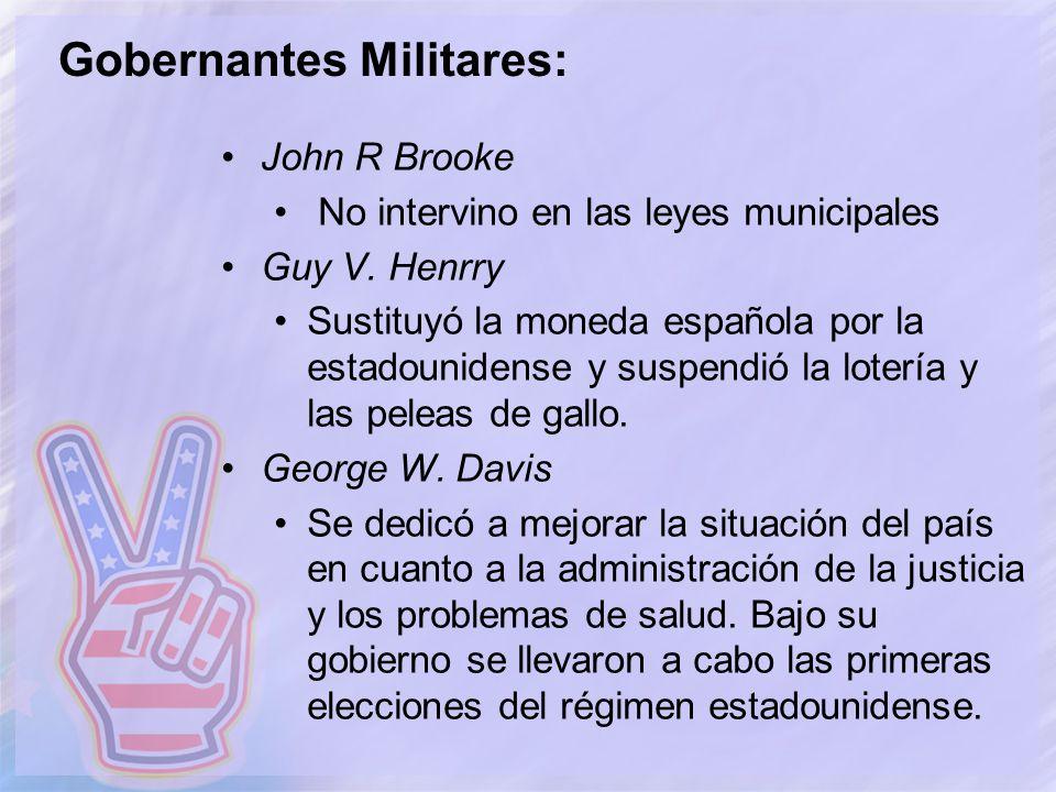 Gobernantes Militares: