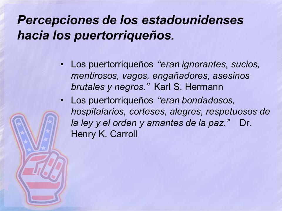 Percepciones de los estadounidenses hacia los puertorriqueños.