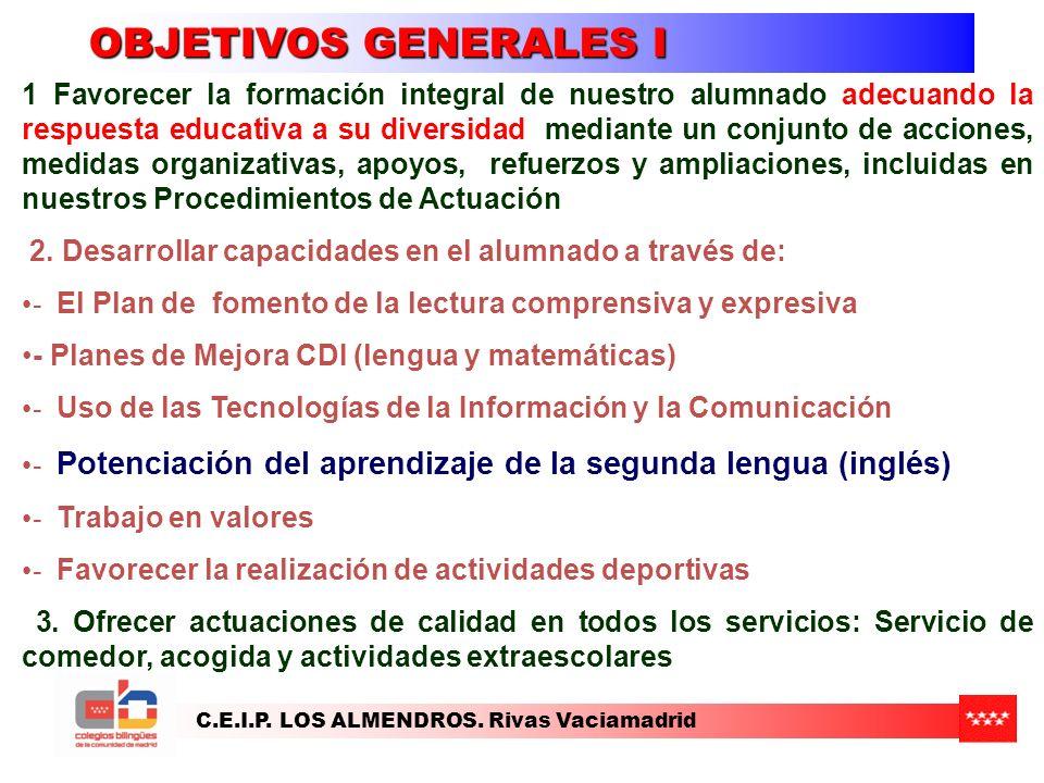OBJETIVOS GENERALES I
