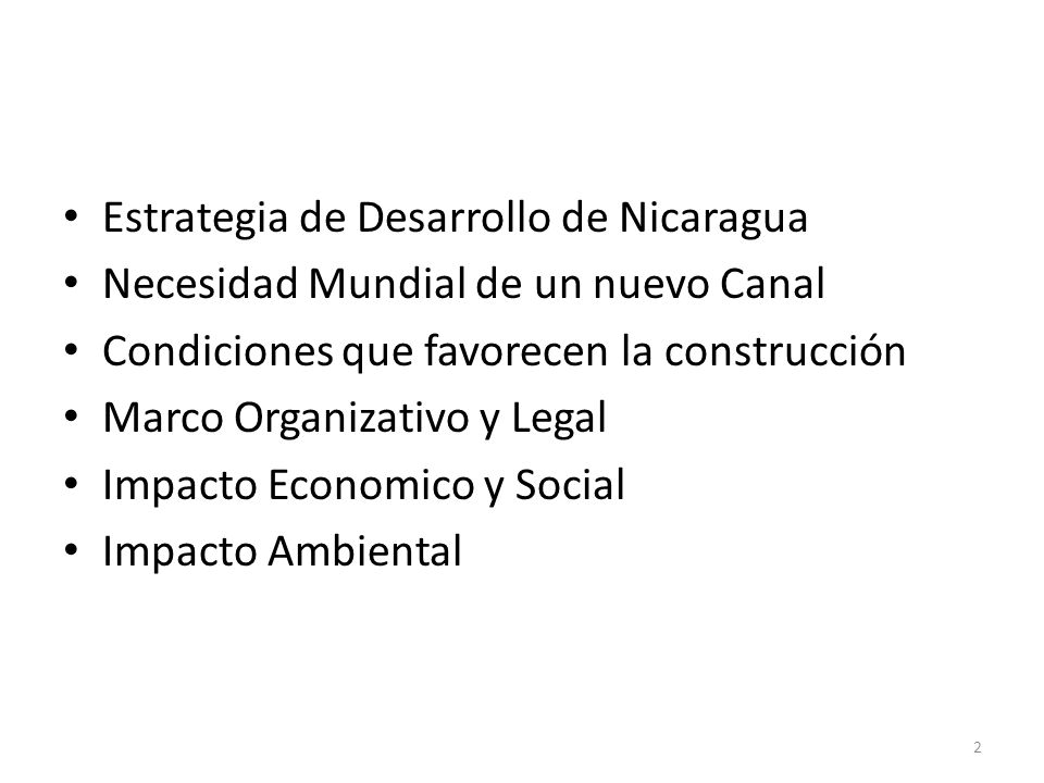 Estrategia de Desarrollo de Nicaragua