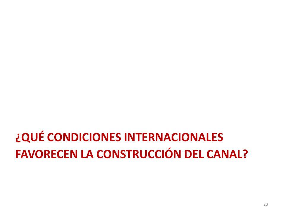 ¿qué condiciones internacionales favorecen la construcción del canal