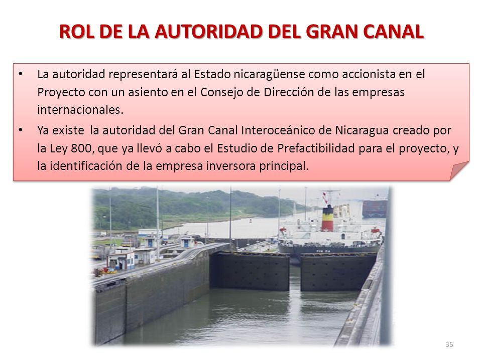 ROL DE LA AUTORIDAD DEL GRAN CANAL