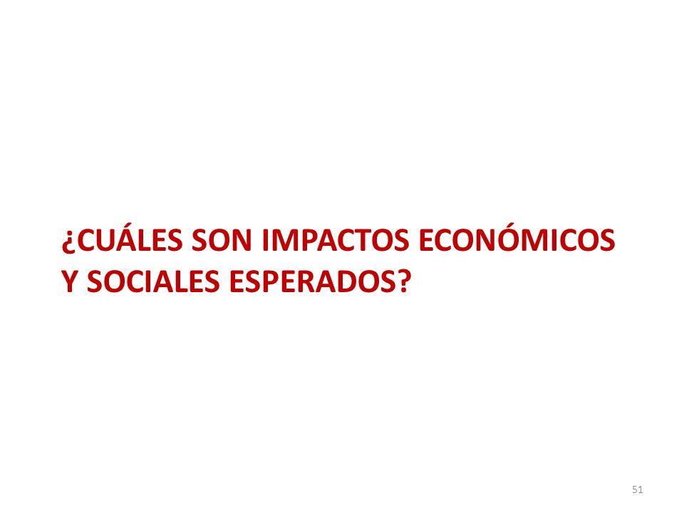 ¿CUÁLES SON IMPACTOS ECONÓMICOS Y SOCIALES ESPERADOS