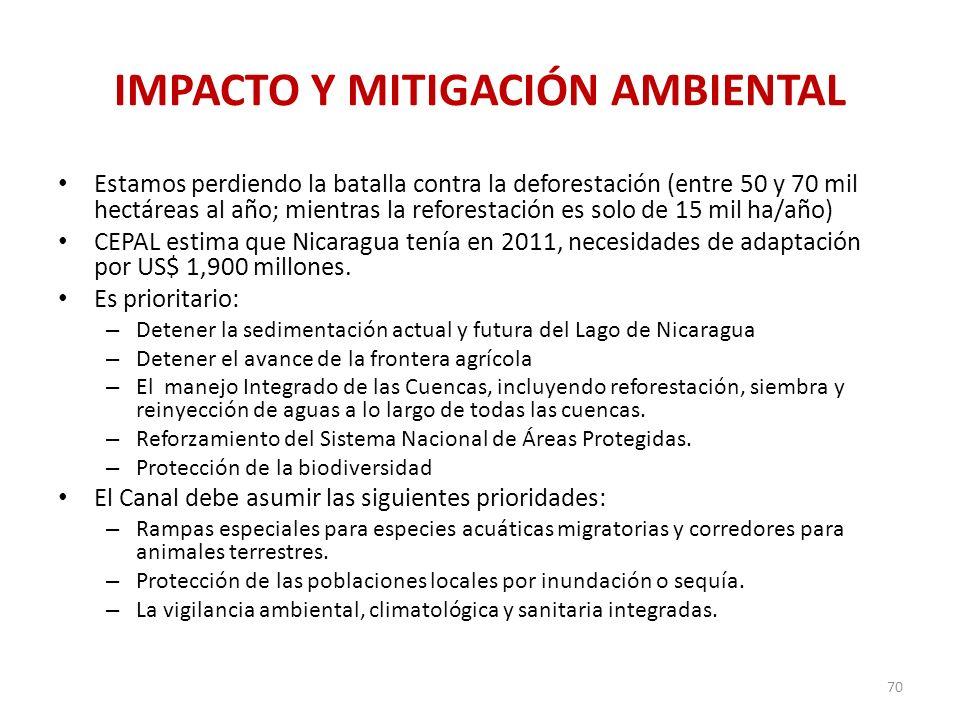 IMPACTO Y MITIGACIÓN AMBIENTAL