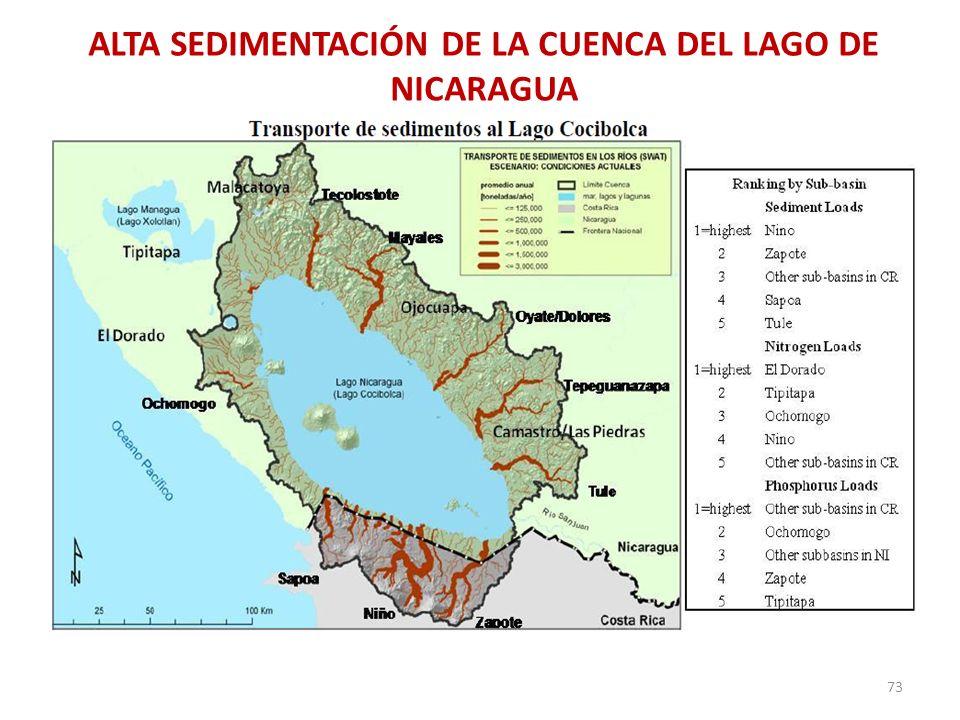 ALTA SEDIMENTACIÓN DE LA CUENCA DEL LAGO DE NICARAGUA