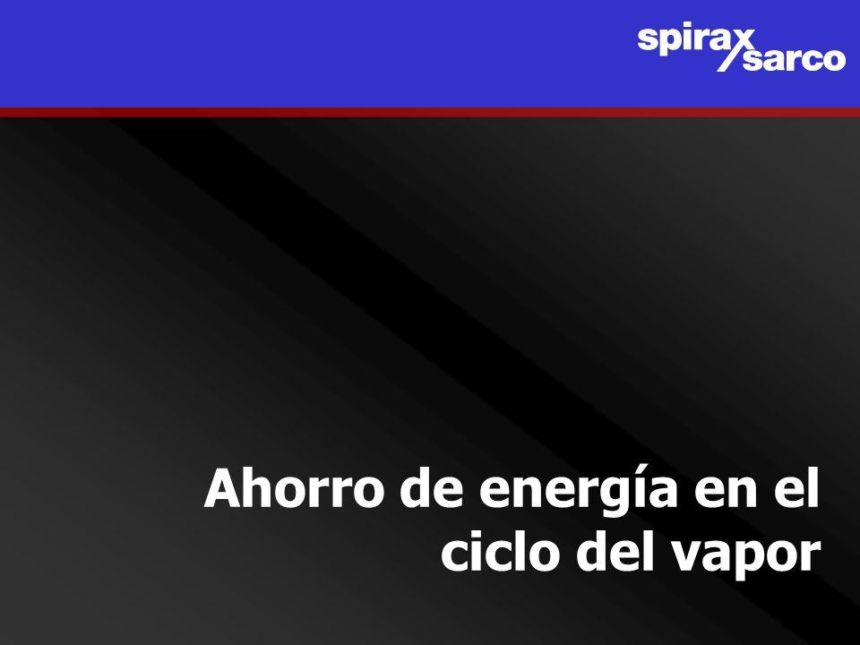 Ahorro de energía en el ciclo del vapor