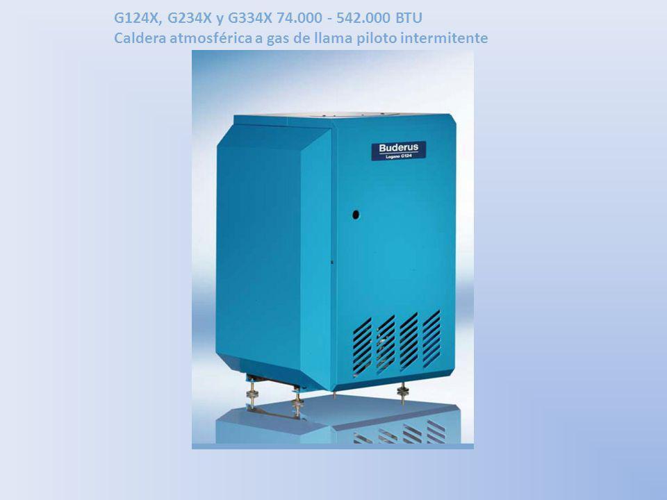 G124X, G234X y G334X 74.000 - 542.000 BTU Caldera atmosférica a gas de llama piloto intermitente