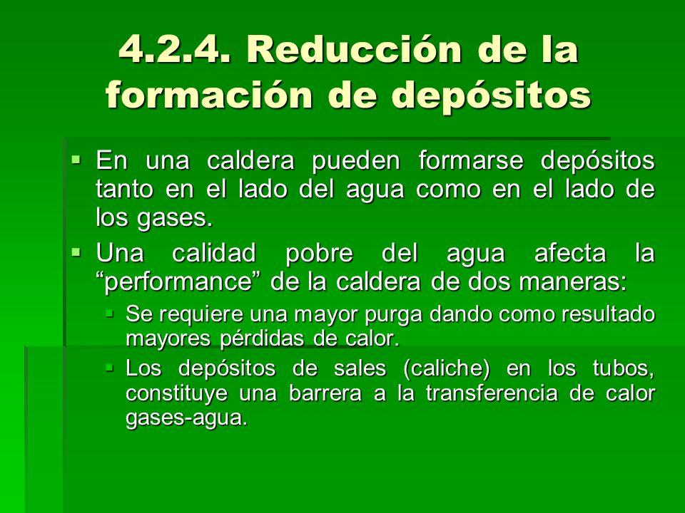 4.2.4. Reducción de la formación de depósitos