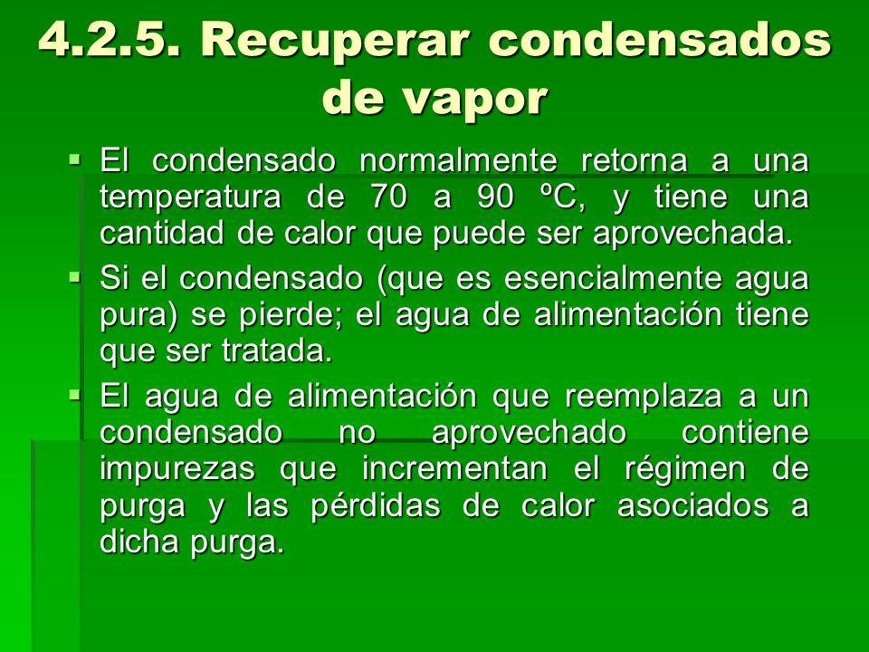 4.2.5. Recuperar condensados de vapor
