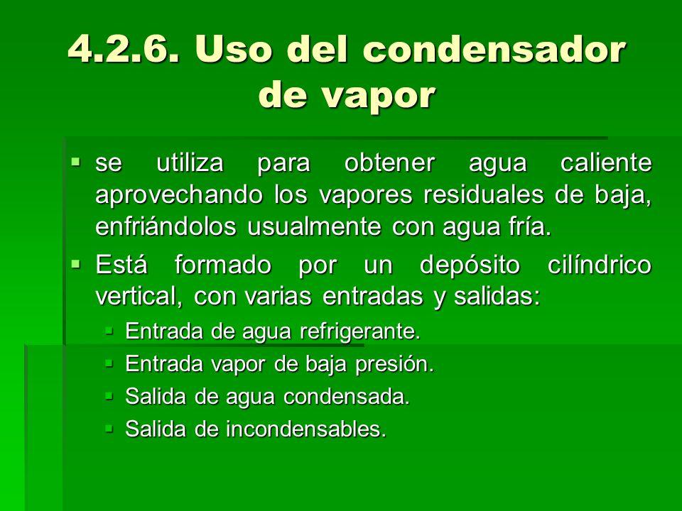 4.2.6. Uso del condensador de vapor