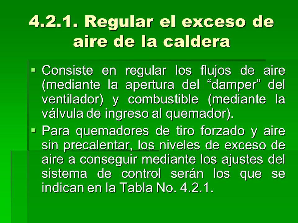 4.2.1. Regular el exceso de aire de la caldera